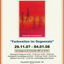"""Ausstellungsflyer """"Farbwelten im Gegensatz"""""""